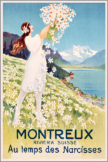 Premium-Poster  Montreux (französisch) - Travel Collection