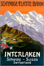 Premium-Poster  Interlaken - Travel Collection