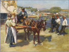 Gallery Print  Harbor Pier, Newlyn - Harold Harvey