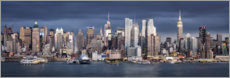 Premium-Poster  Skyline von Manhattan - Jan Christopher Becke