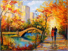 Holzbild  Herbst-Spaziergang in New York - Olha Darchuk
