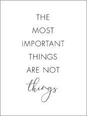 Wandsticker  The most important things - Nouveau Prints