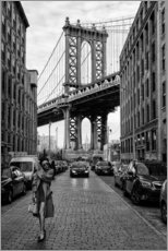 Premium-Poster  Brooklyn mit Manhattan Bridge - Robert Bolton