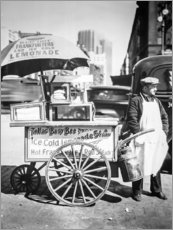 Premium-Poster Hot Dog und Limonaden Stand in Manhattan