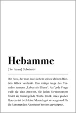 Hartschaumbild  Hebamme Definition - Pulse of Art