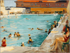 Alubild  Der Pool, Palm Beach - Sir John Lavery