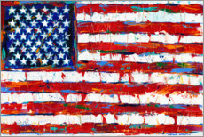 Wandsticker  Stars & Stripes - Carolee Vitaletti