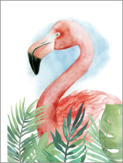 Hartschaumbild  Flamingo Komposition II - Grace Popp