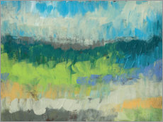 Holzbild  Impasto-Feld I - Jennifer Goldberger