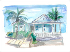 Premium-Poster  Traumhaus in Key West - M. Bleichner