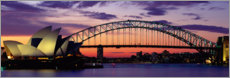 Gallery Print  Harbour Bridge Bei Sonnenuntergang