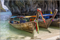 Premium-Poster  Langboote in Thailand - Andrea Haase Foto