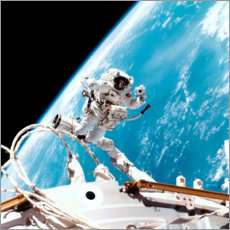 Premium-Poster  ISS Spaziergang im Weltall