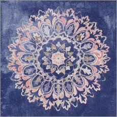 Wandsticker Mandala Delight II Navy