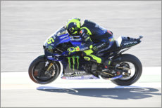 Premium-Poster Valentino Rossi, Yamaha Factory Racing, Valencia 2019