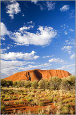 Wandsticker  Ayers Rock im Outback - David Wall