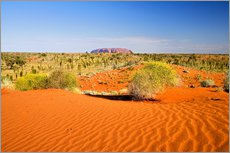 Gallery Print  Outback und Uluru am Horizont - David Wall