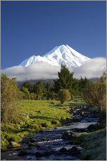 Wandsticker  Natur am Mount Taranaki - David Wall