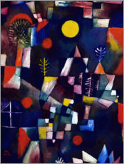 Leinwandbild  Der Vollmond - Paul Klee