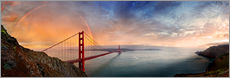 Wandsticker  San Francisco Golden Gate mit Regenbogen - Michael Rucker
