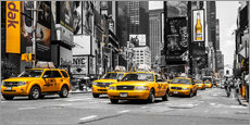 Gallery Print  Yellow Cabs auf dem Times Square - Hannes Cmarits