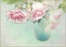 Wandsticker  pink roses - Lizzy Pe