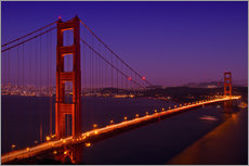 Gallery Print  Golden Gate Bridge bei Nacht - Melanie Viola