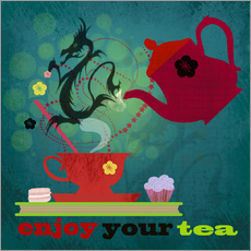 Wandsticker Enjoy your tea