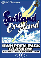 Wandsticker  scotland vs england 1952 - Sporting Frames
