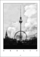 Wandsticker  Berlin - Fernsehturm - ARTSHOT - Photographic Art