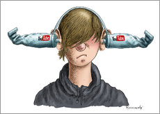 Gallery Print  You Tube Boy - Marian Kamensky