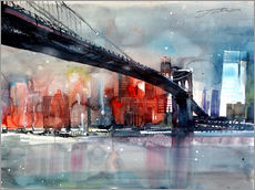 Gallery Print  New York, Brooklyn Bridge IV - Johann Pickl