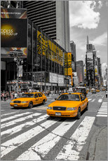 Wandsticker  Yellow Cabs auf dem Time Square 2 - Hannes Cmarits