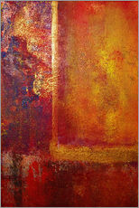 Gallery Print  Color Fields 'Red Orange Yellow Gold' - John Lang Art Gallery