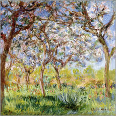 Wandsticker  Frühling in Giverny - Claude Monet
