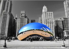 Wandsticker  Chicago Bean - HADYPHOTO