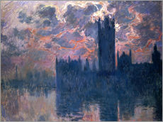 Gallery Print  Houses of Parliament, Sonnenuntergang - Claude Monet