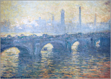 Gallery Print  Fluss Themse in London, Waterloo Bridge - Claude Monet