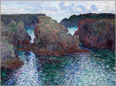 Wandsticker  Belle-ile-Port Goulphare - Claude Monet