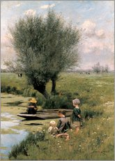 Gallery Print  Am Flussufer - Emile Claus