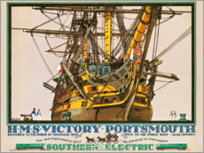 Premium-Poster  H.M.S. Victory, Portsmouth (englisch) - Kenneth Shoesmith