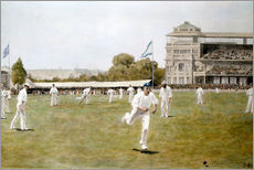 Gallery Print  Cricket bei den Lords, 1896 - William Barnes Wollen