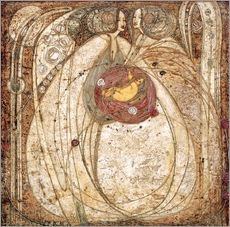 Wandsticker  Das Herz der Rose - Margaret MacDonald Mackintosh