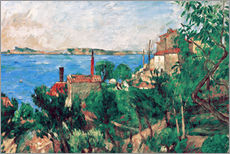 Gallery Print  Das Meer bei L'Estaque - Paul Cézanne