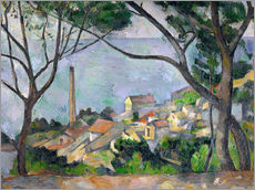 Wandsticker  Das Meer bei L'Estaque - Paul Cézanne