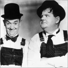 Wandsticker  Laurel & Hardy