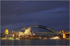 Gallery Print  Sydney Oper und Harbour Bridge - David Wall