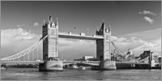 Wandsticker  Tower Bridge black and white - Melanie Viola