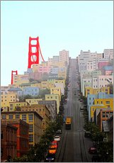 Wandsticker  San Francisco und Golden Gate Bridge - John Morris