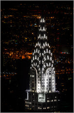Gallery Print  Chrysler Building New York City by Night - Michael Haußmann